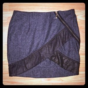 🦋 Very J Unique Asymmetrical Zipper Mini Skirt